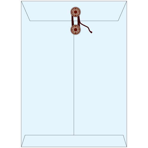角2保存袋(マチ・紐付)ハイデラックスカラー スカイ色保存袋 角2 保存封筒 保存 サイズ255×35×342mm厚さ 185g/m2 100枚/1箱