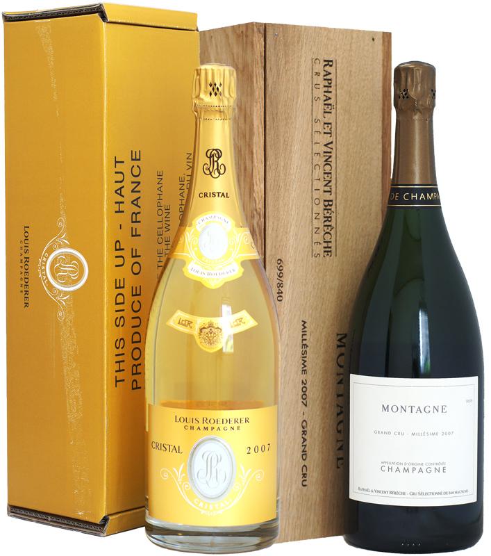【送料無料・特別価格】ルイ・ロデレール・クリスタル&ベレッシュの豪華マグナム瓶 2本セット