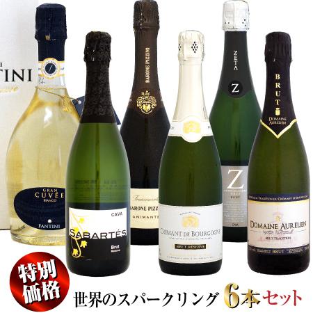 【特別価格】NEW 世界のスパークリングワイン 6本セット