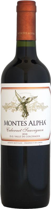 チリの旨安赤ワイン モンテス 卓越 新品 アルファ カベルネ 2018 750ml ソーヴィニヨン
