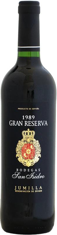 ボデガス サン 公式ストア イシドロ グラン 1989 爆買い送料無料 レゼルバ 750ml
