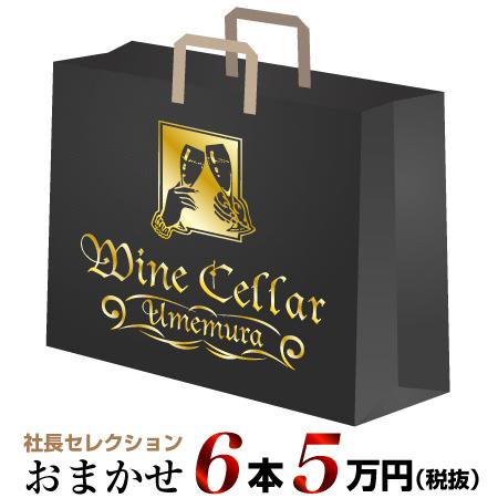 社長セレクション おまかせ 5万円 アウトレットセール 特集 完全送料無料 ワイン6本セット