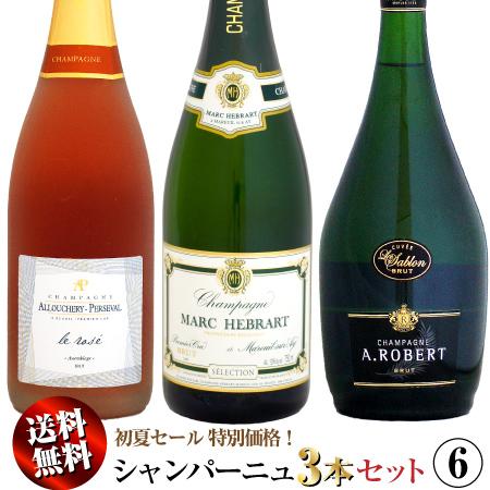 【クール送料無料】初夏セール シャンパーニュ 3本セット 06