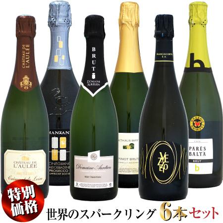 日頃の感謝をこめて 超歓迎された 特別価格 NEW 世界のスパークリングワイン 6本セット イタリア 卓越 スペイン フランス ドイツ