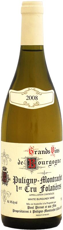 ドメーヌ・ポール・ペルノ ピュリニ・モンラッシェ 1er レ・フォラティエール [2008]750ml