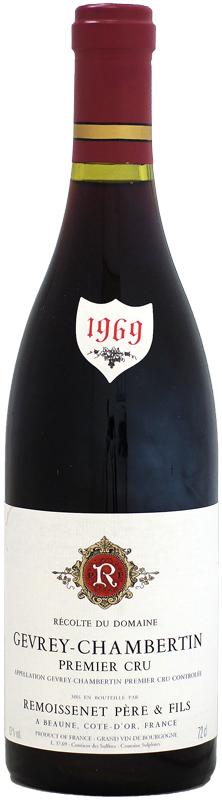 ルモワスネ ジュヴレ・シャンベルタン プルミエ・クリュ [1969]720ml