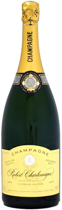 【マグナム瓶】ロベール・シャルルマーニュ ブリュット・ミレジム ブラン・ド・ブラン グラン・クリュ [2007]1500ml