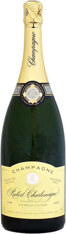 【マグナム瓶】ロベール・シャルルマーニュ ブリュット・ミレジム ブラン・ド・ブラン グラン・クリュ [2008]1500ml