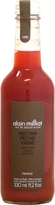 世界の高級ホテル レストランで愛用される至高の逸品 激安通販 直送商品 アランミリア 330ml ジュース 葡萄畑のピーチネクター
