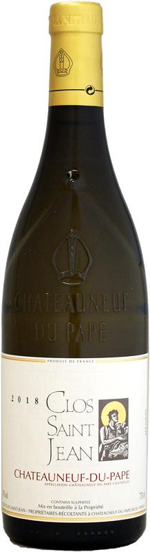 ワインアドヴォケイト:90 ポイント クロ・サン・ジャン シャトーヌフ・デュ・パプ ブラン [2018]750ml (白ワイン)