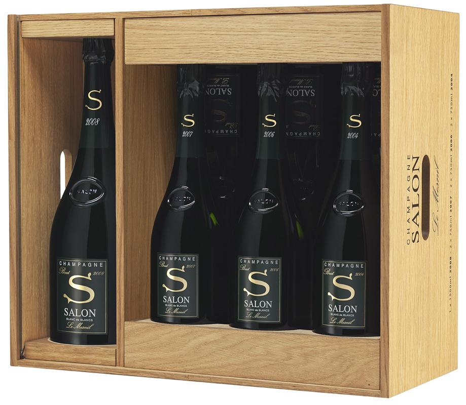 サロン 2008 マグナム(1500ml) 1本を含むアソートメントセット(合計7本)木箱入り