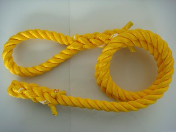 トレーニングロープ/カラーロープ/ターザンロープ/登り綱/リプロン製ターザンロープ(登り綱) 黄 30mm×2.5M 10000237