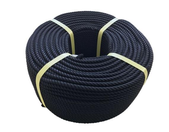 ロープ/切売り/クレモナロープ 黒 9mm×200M