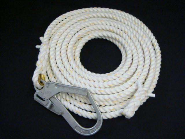 親綱ロープ/送料無料/クレモナロープ/クレモナ製親綱(介錯)ロープ 16mm×20M