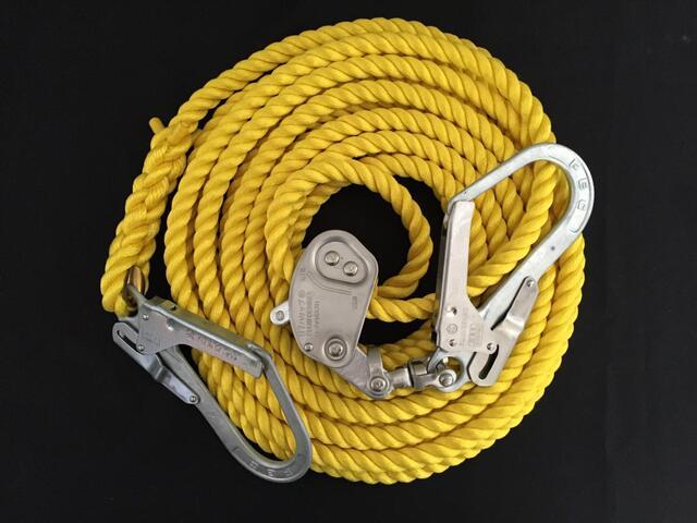 親綱ロープ/送料無料/エステルロープ/エステル製親綱ロープ 16mm×20M 緊張器付