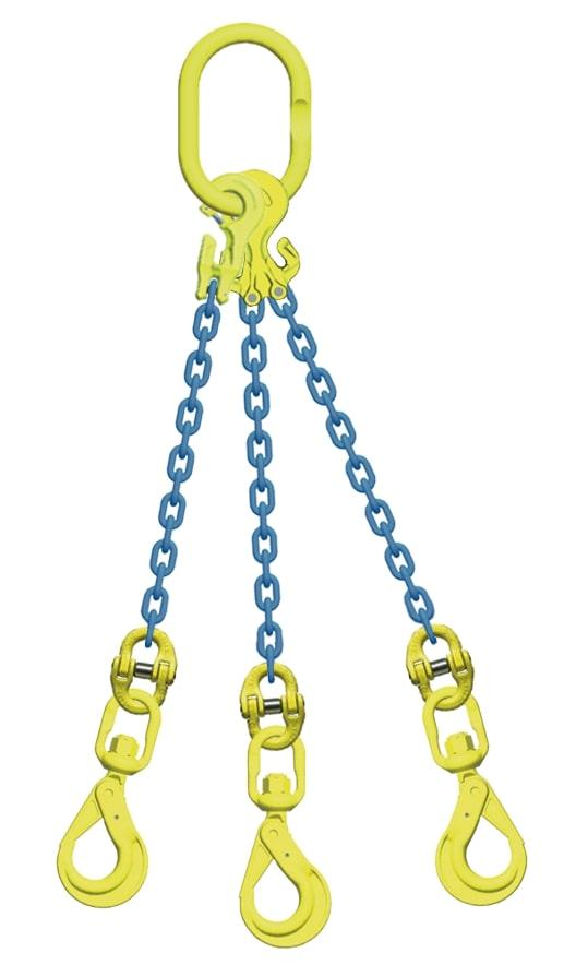 チェーンスリング マーテック 3点吊 全店販売中 市販 吊り具 3点吊 長さ調節機能付 TG3‐BKL 13.5t スイベルフック 13mm