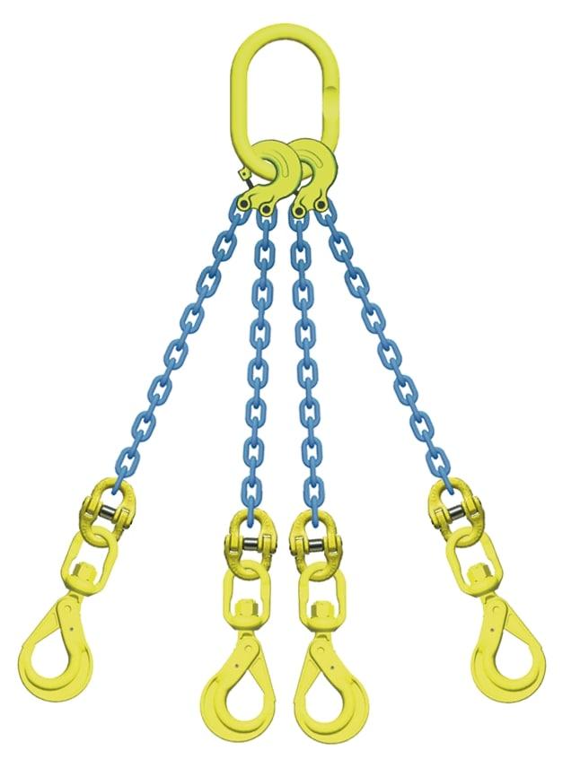 代引き不可 チェーンスリング マーテック 4点吊 吊り具 2.8t 6mm TL4‐BKL スイベルフック 売却