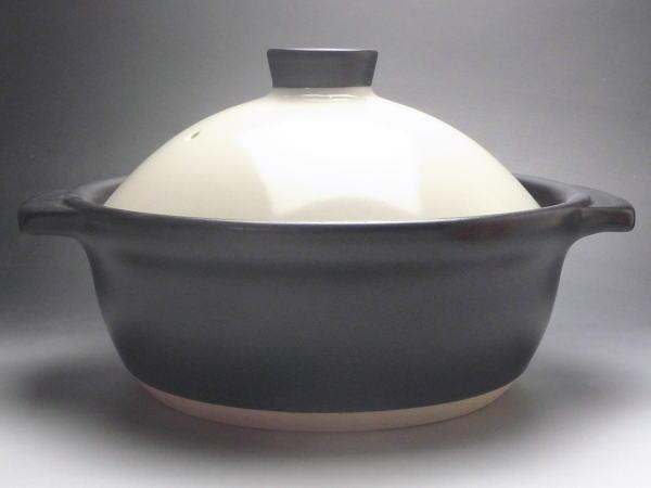 洋風土鍋白/黒7号