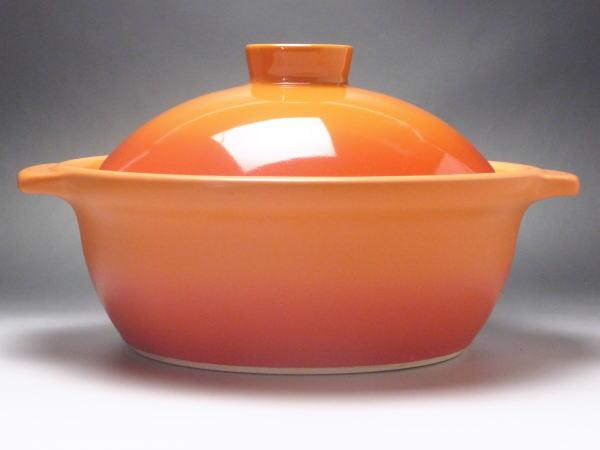 洋風土鍋ベイクオレンジ8号