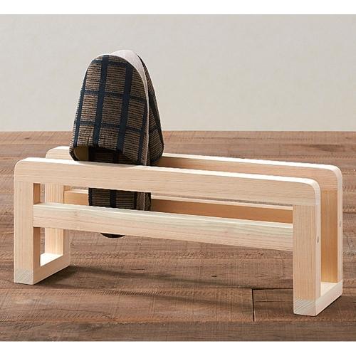 送料無料 ファッション通販 ひのきのスリッパラック 1段 直送商品 木製スリッパラック