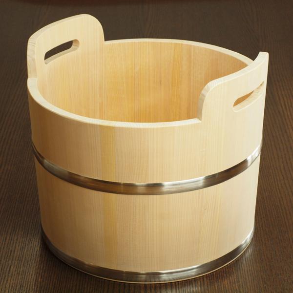 深型・持ち手付き足湯桶【透明ウレタン塗装】