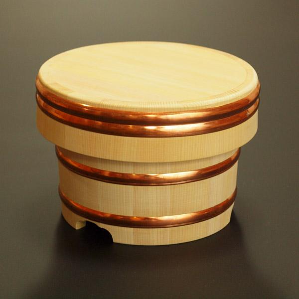 【送料無料】木製おひつ-木曽さわらの特級厚口江戸びつ 7合