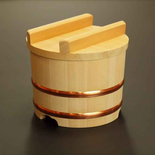 【送料無料】木製おひつ-木曽さわらの特級厚口のせびつ 7合
