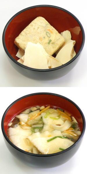 八戶煎餅湯(冷凍幹燥即席的即席的煎餅湯)■10P05Dec15■