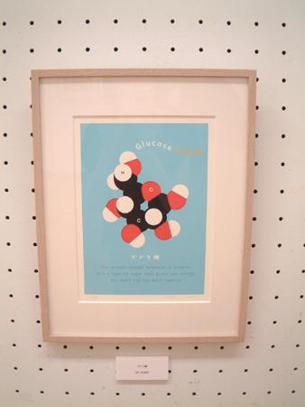 ユカコさんの分子模型版画「ブドウ糖」