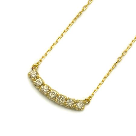 【GWクーポン配布中】K18 ダイヤモンド 0.35ct ネックレス 「lusso」送料無料 ペンダント ダイアモンド 誕生日 4月誕生石 18K 18金 ゴールド アズキチェーン 記念日 メッセージ ギフト 贈り物