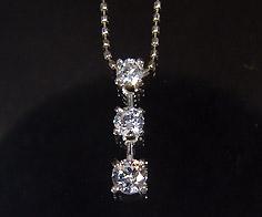 K18 ダイヤモンド 0.30ct スリーストーン ペンダント送料無料 ネックレス ゴールド ダイアモンド 18K 18金 カットボールチェーン 誕生日 4月誕生石 メッセージ ギフト 贈り物