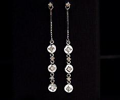K18 ダイヤモンド 0.18ct スウィング スタッドピアス イヤリング 18K 18金 ゴールド ダブルロック ダイアモンド 誕生日 4月誕生石 記念日 メッセージ ギフト 贈り物