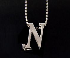 K18 ダイヤモンド イニシャル ペンダント トップ 「N」ネックレス ゴールド ダイアモンド アルファベット 18K 18金 誕生日 4月誕生石 メッセージ ギフト 贈り物