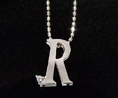 K18 ダイヤモンド イニシャル ペンダント トップ 「R」ネックレス ゴールド ダイアモンド アルファベット 18K 18金 誕生日 4月誕生石 メッセージ ギフト 贈り物
