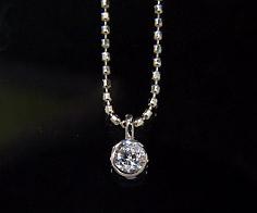 K18 ダイヤモンド 0.10ct ペンダント送料無料 ネックレス ゴールド ダイアモンド 一粒 18K 18金 カットボールチェーン 誕生日 4月誕生石 メッセージ ギフト 贈り物