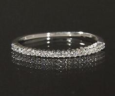 【GWクーポン配布中】K18 ダイヤモンド 0.11ct リング送料無料 指輪 18K 18金 ゴールド ダイアモンド エタニティーリング 誕生日 4月誕生石 刻印 文字入れ ピンキーリング メッセージ ギフト 贈り物