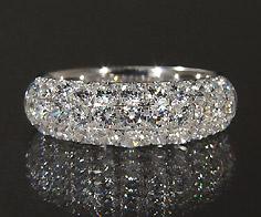 K18 ダイヤモンド 1.20ct パヴェ リング 指輪 18K 18金 ゴールド ダイアモンド パべ 誕生日 4月誕生石 刻印 文字入れ ピンキーリング メッセージ ギフト 贈り物