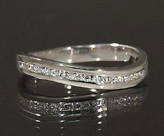 【GWクーポン配布中】K18 ダイヤモンド 0.12ct リング送料無料 指輪 18K 18金 ゴールド ダイアモンド エタニティーリング レール留め 誕生日 4月誕生石 刻印 文字入れ ピンキーリング メッセージ ギフト 贈り物