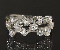 K18 ダイヤモンド 0.48ct リング送料無料 指輪 18K 18金 ゴールド ダイアモンド 誕生日 4月誕生石 刻印 文字入れ ピンキーリング メッセージ ギフト 贈り物
