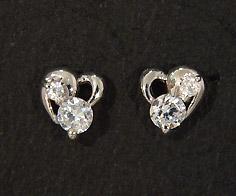 K18 ダイヤモンド 0.14ct ハート スタッドピアス イヤリング 18K 18金 ゴールド ダブルロック ダイアモンド 誕生日 4月誕生石 記念日 メッセージ ギフト 贈り物