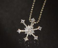 【GWクーポン配布中】K18 ダイヤモンド 0.13ct ペンダント トップ送料無料 ネックレス ゴールド ダイアモンド 雪の結晶 スノー 18K 18金 誕生日 4月誕生石 メッセージ ギフト 贈り物