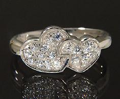 K18 ダイヤモンド 0.23ct ハート リング 指輪 18K 18金 ゴールド ダイアモンド 誕生日 4月誕生石 刻印 文字入れ ピンキーリング メッセージ ギフト 贈り物