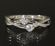 K18 ダイヤモンド 0.15ct リング 指輪 18K 18金 ゴールド ダイアモンド 誕生日 4月誕生石 刻印 文字入れ ピンキーリング メッセージ ギフト 贈り物