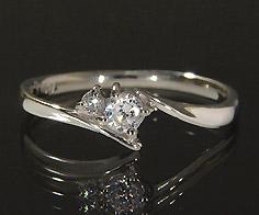 【GWクーポン配布中】K18 ダイヤモンド 0.125ct リング送料無料 指輪 18K 18金 ゴールド ダイアモンド 誕生日 4月誕生石 刻印 文字入れ ピンキーリング メッセージ ギフト 贈り物