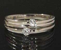 【GWクーポン配布中】K18 ダイヤモンド 0.14ct リング送料無料 指輪 18K 18金 ゴールド ダイアモンド 誕生日 4月誕生石 刻印 文字入れ ピンキーリング メッセージ ギフト 贈り物