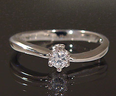 K18 ダイヤモンド 0.12ct リング送料無料 指輪 18K 18金 ゴールド ダイアモンド 誕生日 4月誕生石 刻印 文字入れ ピンキーリング メッセージ ギフト 贈り物