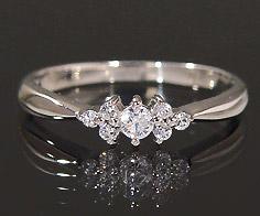 【GWクーポン配布中】K18 ダイヤモンド 0.16ct フラワー リング送料無料 指輪 18K 18金 ゴールド ダイアモンド 誕生日 4月誕生石 刻印 文字入れ ピンキーリング メッセージ ギフト 贈り物