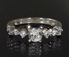 K18 ダイヤモンド 0.50ct リング送料無料 指輪 18K 18金 ゴールド ダイアモンド 誕生日 4月誕生石 刻印 文字入れ ピンキーリング メッセージ ギフト 贈り物