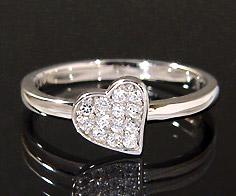 【GWクーポン配布中】K18 ダイヤモンド 0.13ct ハート リング送料無料 指輪 18K 18金 ゴールド ダイアモンド 誕生日 4月誕生石 刻印 文字入れ ピンキーリング メッセージ ギフト 贈り物