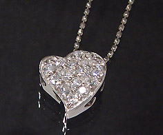 K18 ダイヤモンド 0.32ct ハート ペンダント ネックレス ゴールド ダイアモンド 18K 18金 カットボールチェーン 誕生日 4月誕生石 メッセージ ギフト 贈り物